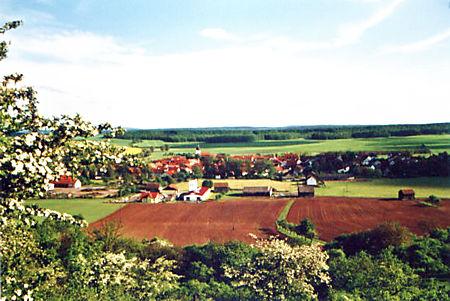 Blick vom Weinberg auf Gompertshausen