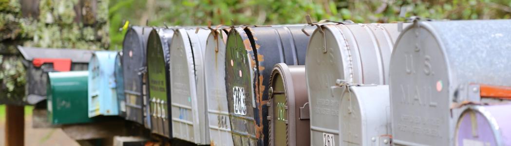 Briefkasten als Zeichen für Kontaktanfragen