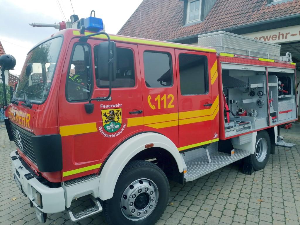 Das in Stand gesetzte Feuerwehrfahrzeug