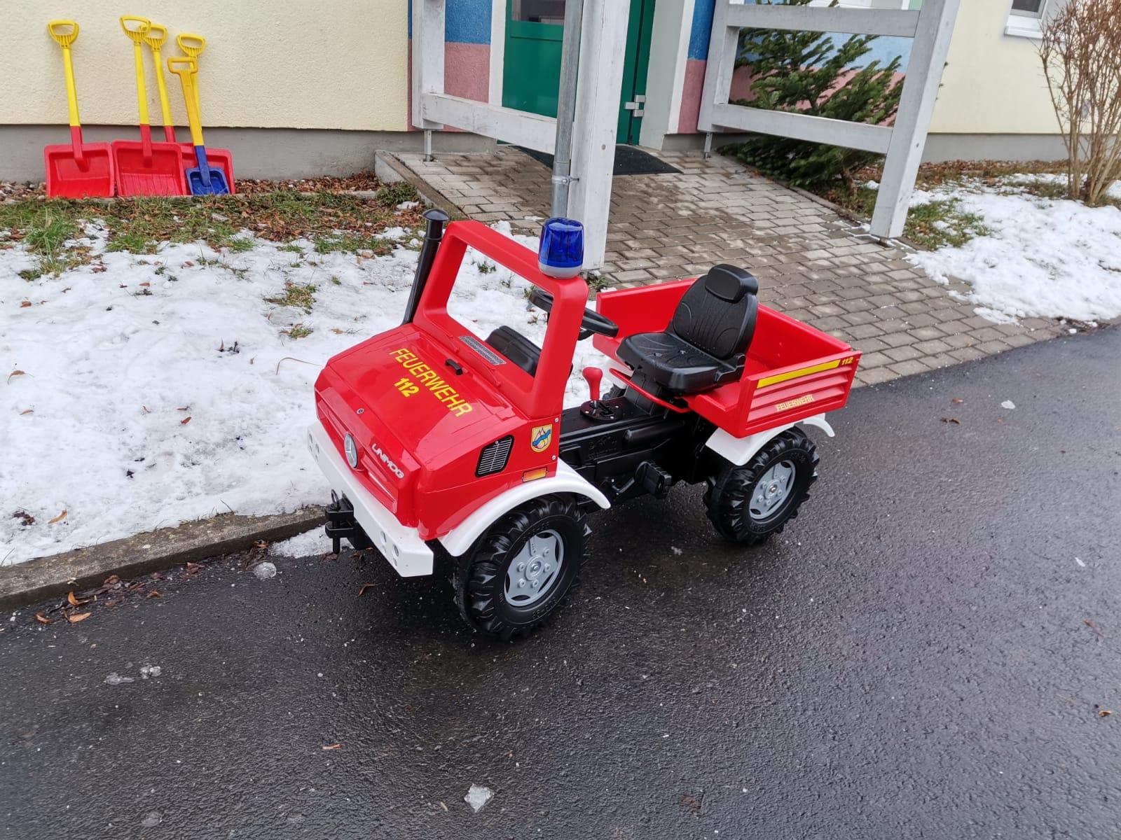 Neues Feuerwehr-Trampelfahrzeug